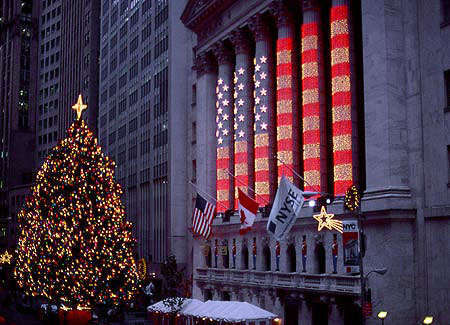 NY Stock Exchange at Christmas